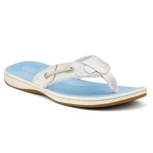 sperry seafish white blue
