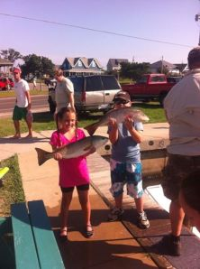 Tightline Charter kids and puppy drum