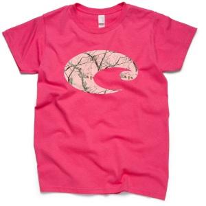 costa pink camo t shirt