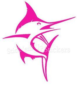 pink marlin sticker