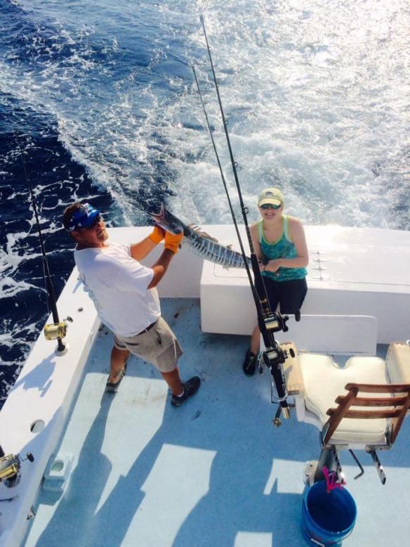 Hatteras Blue Sportsfishing wahoo