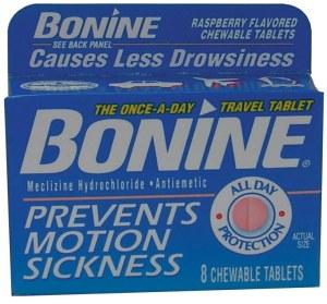 bonine motion sickness