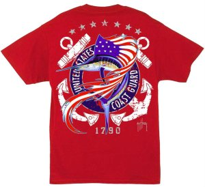 guy harvey coast guard sst red