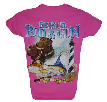 Frisco Rod and Gun 2012 Womens Two Dogs Short Sleeve Tee