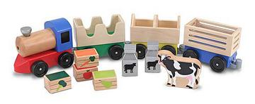 m&d wooden train set